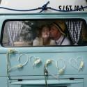 SERCA rattanowe na samochód ślubny z bukiecikami 2szt
