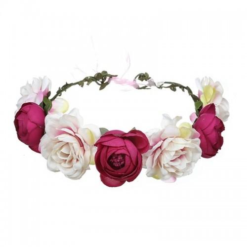WIANEK ślubny Kolorowe Kwiaty DUŻY
