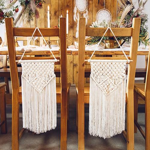 MAKRAMA ślubna na salę weselną i plener 30x49cm