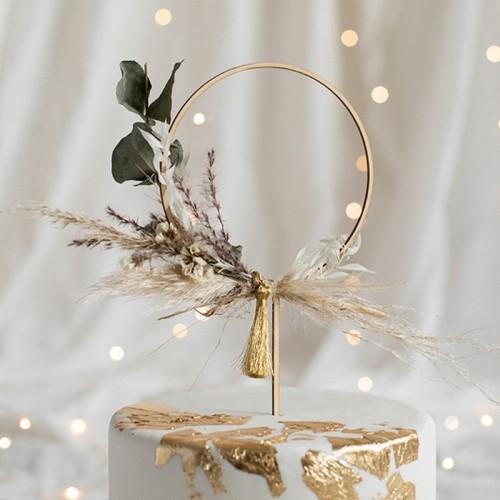 TOPPER na tort weselny drewniany do własnej aranżacji Obręcz