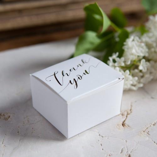 PUDEŁECZKA na wesele Thank You NAPIS ROSEGOLD BŁYSK