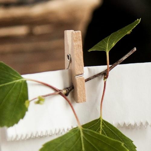 KLAMERKI drewniane dekoracyjne MAŁE 20szt