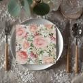 SERWETKI na wesele papierowe Róże Vintage 33x33cm 20szt