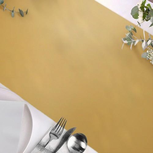 BIEŻNIK flizelinowy obrus Złoty 40cmx10m