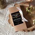 PODZIĘKOWANIE dla Świadka pudełko na czekoladę kraft Z IMIENIEM Black