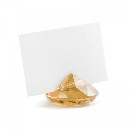 WIZYTOWNIKI diamentowe 10szt ZŁOTE