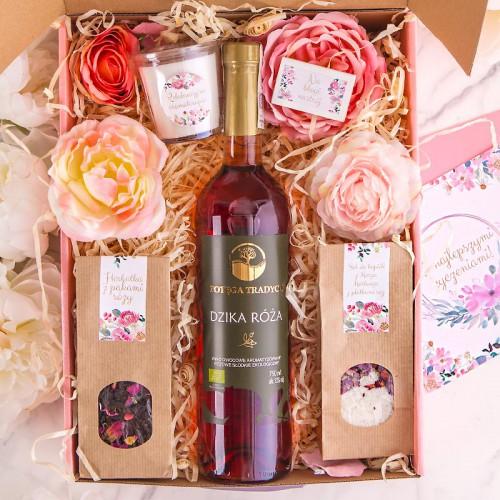 PODZIĘKOWANIE dla Rodziców Z IMIENIEM Wino i herbatki MEGA DUŻY