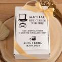 PROŚBA o bycie Świadkiem pudełko Z IMIENIEM Kubek i herbata
