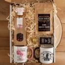 PODZIĘKOWANIE dla Rodziców Z IMIONAMI Kosz Kubki z kawą, herbatą i miodem