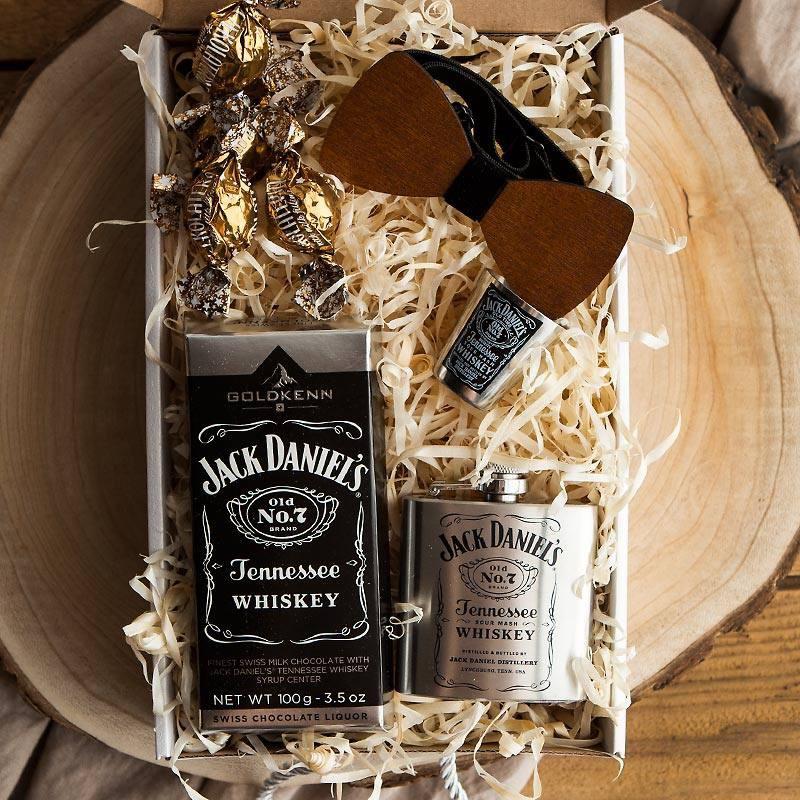 PODZIĘKOWANIE dla Świadka pudełko Z IMIENIEM Zestaw Jack Daniels