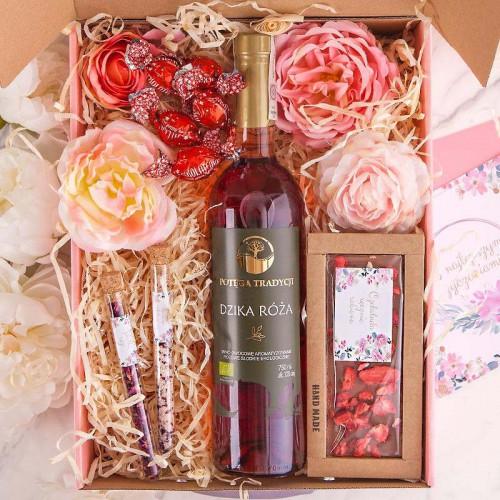 PODZIĘKOWANIE dla Rodziców Z IMIENIEM Wino i czekolada MEGA DUŻY