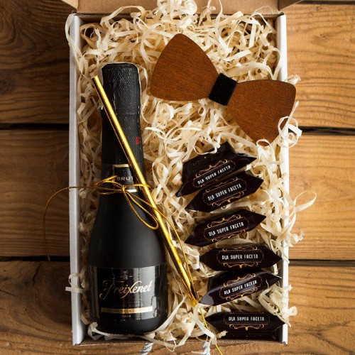 PODZIĘKOWANIE dla Świadka pudełko Z IMIENIEM Wino i mucha