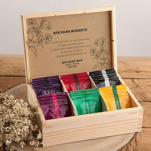 PODZIĘKOWANIE dla Rodziców Z IMIONAMI Herbaciarka 36 herbat