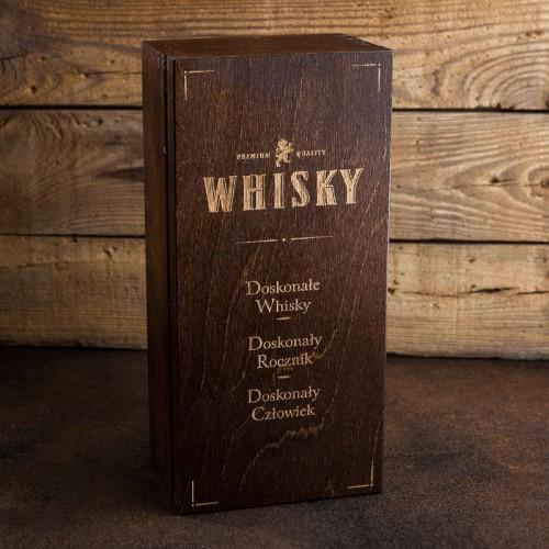 SKRZYNIA na Whisky prezent dla Świadka, Taty BRĄZ