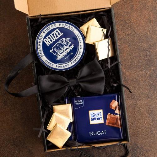 PREZENT dla Świadka pudełko Z IMIENIEM Pomada dla dżentelmena LUX