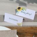 WINIETKA ślubna z nadrukiem Akwarelowe Słoneczniki