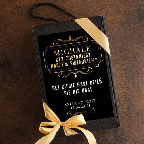 PYTANIE do Świadka pudełko Z IMIENIEM Pomada dla dżentelmena LUX