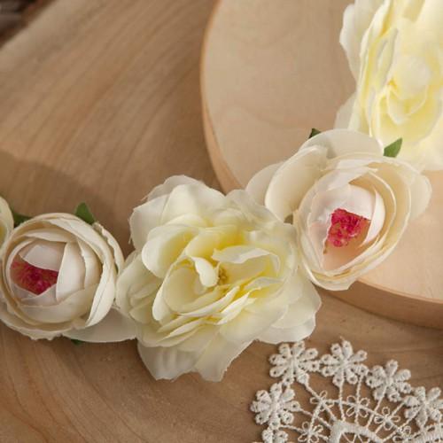 WIANEK ślubny Białe Kwiaty OKAZAŁY