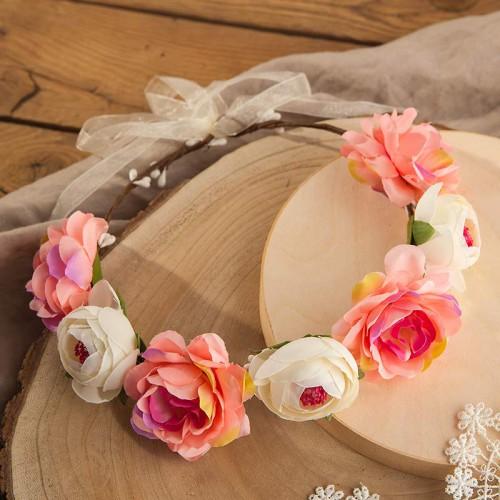 WIANEK ślubny Pastelowe Kwiaty OKAZAŁY