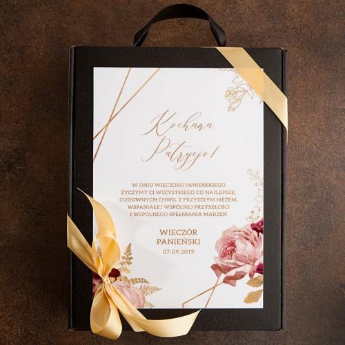 PREZENT na Panieński Z PODPISEM Wino kryształowe z czekoladą