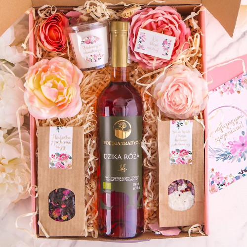 PREZENT na Rocznicę Ślubu Z IMIONAMI Wino, herbatka i sól MEGA DUŻY