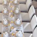SERWETKI flizelinowe Airlaid Białe 50szt