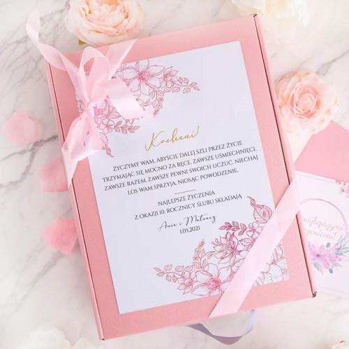 PREZENT na Rocznicę Ślubu Z IMIONAMI Zestaw Miłość LUX