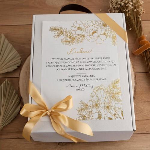 PREZENT na Rocznicę Ślubu kosz Prosecco i czekolada Z IMIONAMI