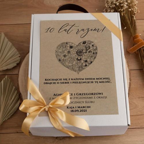 PREZENT na Rocznicę Ślubu Z IMIONAMI Kosz EKO Luksusowy