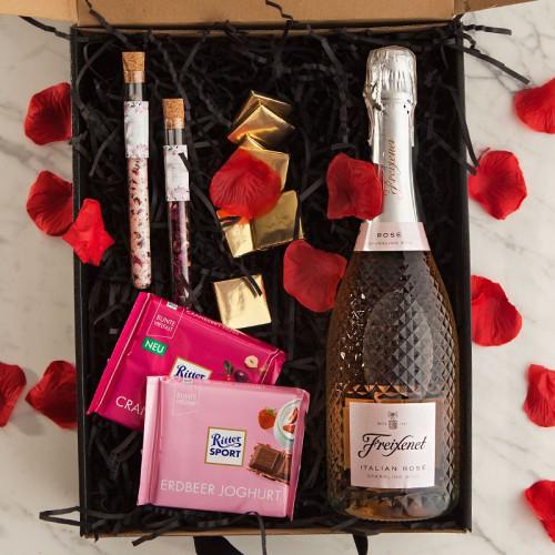 PREZENT na Rocznicę Ślubu Z PODPISEM Wino kryształowe z czekoladą