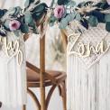 ZAWIESZKI na krzesła Mąż Żona DREWNIANE