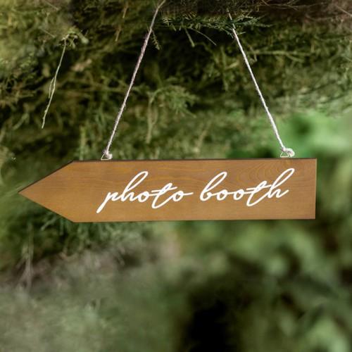 STRZAŁKA drewniana drogowskaz z napisem Photobooth do fotobudki
