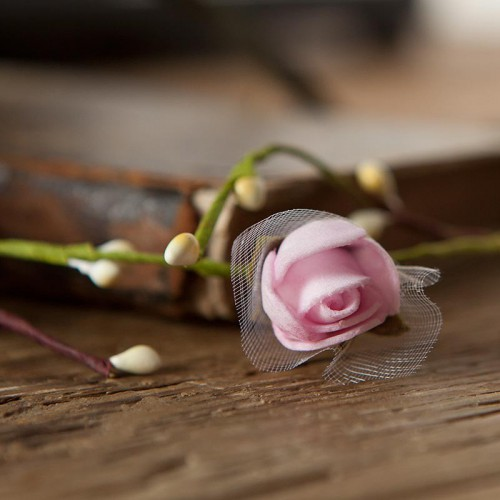 OPASKA ślubna i na panieński na gumce Różowa Delikatna (093)