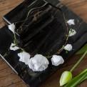 OPASKA ślubna i na panieński na gumce Białe Kwiaty (094)