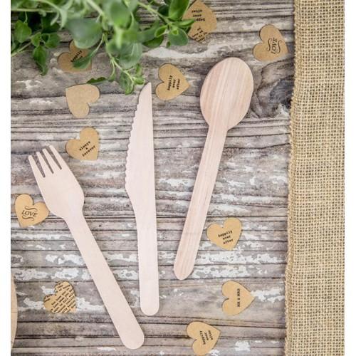 SZTUĆCE drewniane do słodkiego stołu 18szt