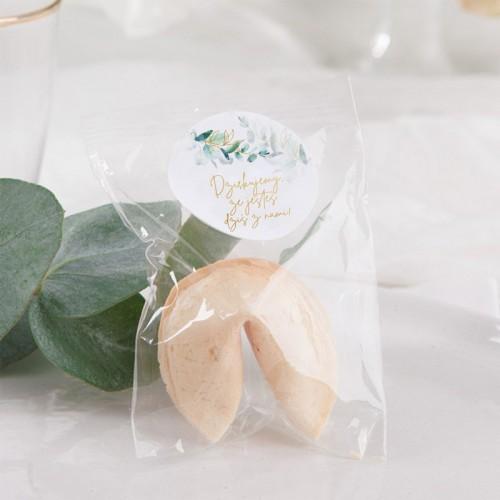 CIASTECZKA z wróżbą na wesele Gałązka Eukaliptusa 10szt