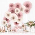 ROZETY dekoracyjne na wesele i panieński 3szt Beżowe