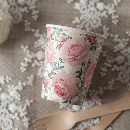 KUBECZKI na wieczór panieński Róże Vintage 0,25l 10szt