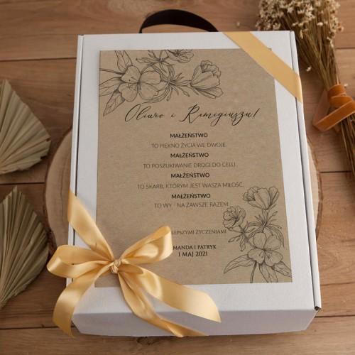 PREZENT na Ślub Z IMIONAMI Kosz EKO Luksusowy