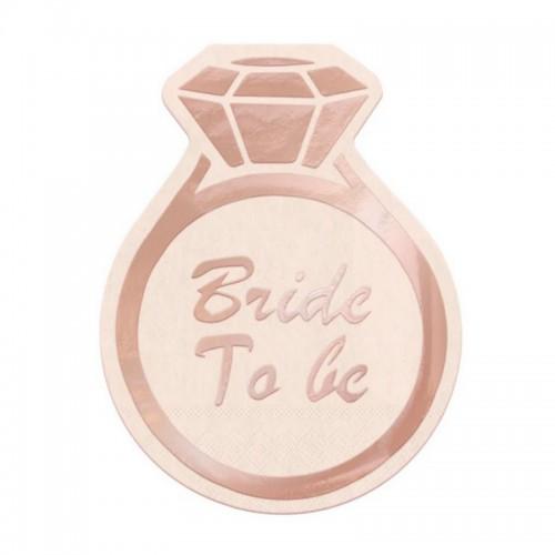 SERWETKI na panieński Bride to Be Pierścionek 10szt