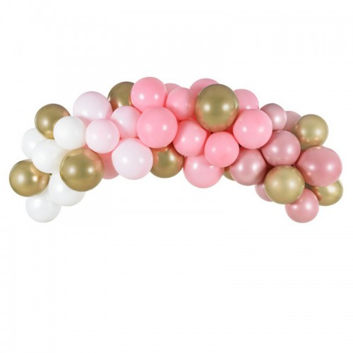 GIRLANDA balonowa zestaw 60 balonów+taśma Różowa