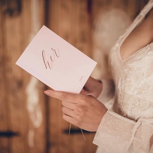 OKŁADKI na przysięgi ślubne His & Her komplet 2szt