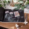 KSIĘGA GOŚCI czarne kartki fotobudka Z IMIONAMI Pudrowe Kwiaty