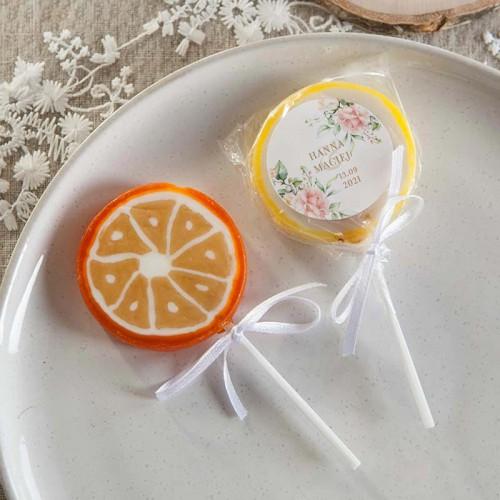 LIZAKI dla gości na wesele Pudrowe Kwiaty Z IMIONAMI 10szt (+etykiety)