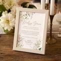 INSTRUKCJA do księgi gości w ramce Pudrowe Kwiaty