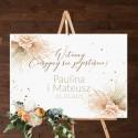 PLAKAT na wesele tablica powitalna 50x70cm Pampas Boho