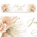 TABLICE rejestracyjne ślub Z NADRUKIEM Pampas Boho