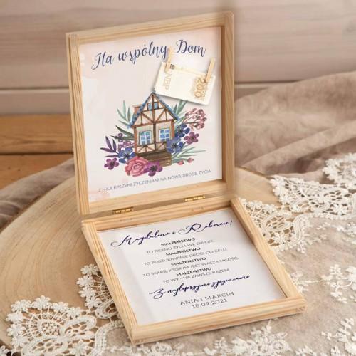 PUDEŁKO na pieniądze ślub Z PODPISEM Na wspólny Dom