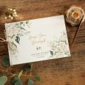 KSIĘGA GOŚCI weselnych Z IMIONAMI Białe Kwiaty (+sznurek jutowy)