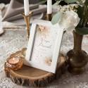 TABLICZKA na stolik na panieński Z IMIENIEM Pampas Boho (+ramka)
